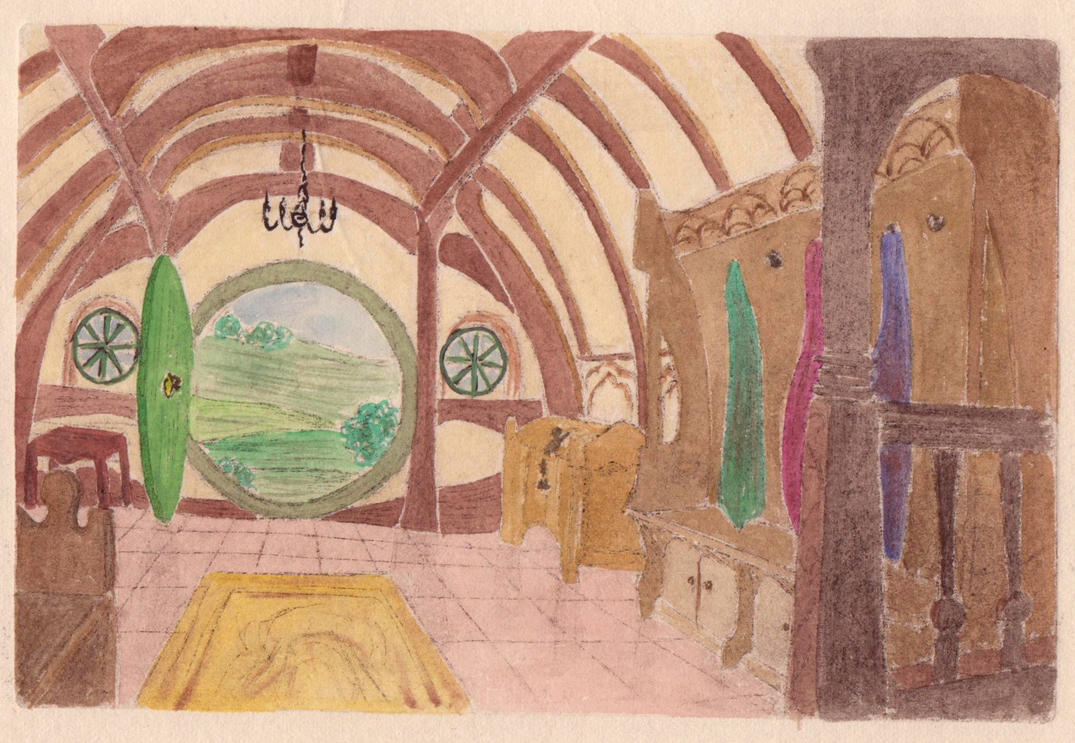 Hobbiton (in colors) by Cassiopeeh