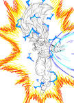 Goku super saiyan 3 by ELordy