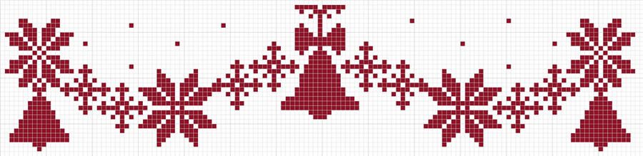 Snowflake n Bells Garland by Narmita08