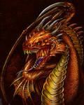 Inktober 2019-Day 12: Dragon by Amanock