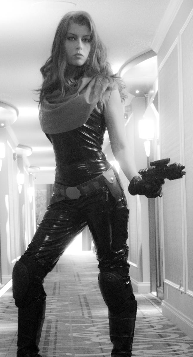 Mara Jade B/W by Queen-Azshara