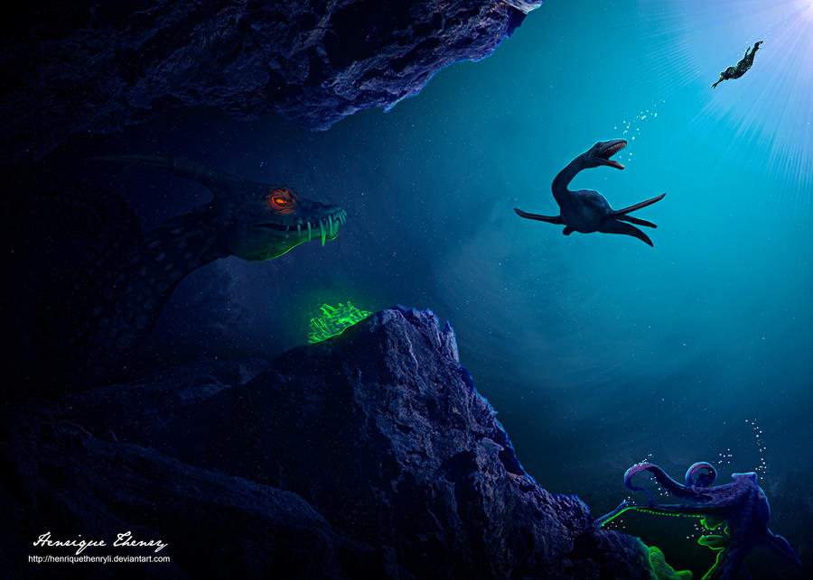 Creatures of the deep by HenriqueThenryLI