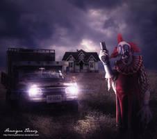 evil clown by Henriqu3Campos