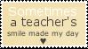 Just one smile - stamp by V1KA