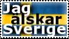 Jag alskar Sverige - stamp by V1KA