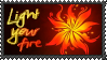 Light your fire - stamp by V1KA