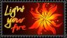 Light your fire - stamp by V1KA