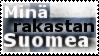 Mina rakastan Suomea - stamp by V1KA