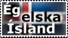 Eg elska Island - stamp by V1KA