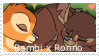 Bambi x Ronno - stamp by V1KA