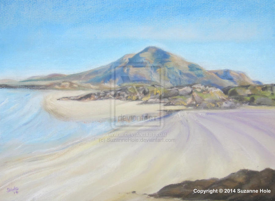 Lettergesh beach, Connemara in Pastels by SuzanneHole