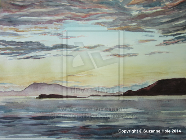 Achill Island and Clare Island Sunset by SuzanneHole