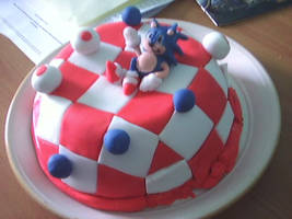 Sonic cake. Sonic and cake. by TheRoaringRaar