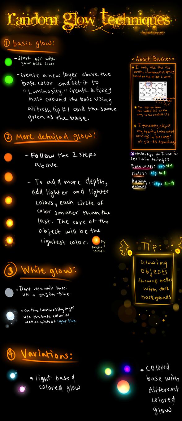 Random Glow Techniques Tutorial by TheFireGypsy