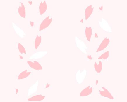 Seamless Sakura Petal Pattern