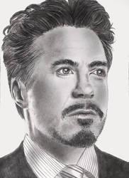 Tony Stark by mydeadflowers