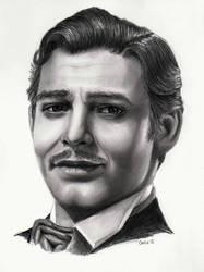 Clark Gable Graphite by mydeadflowers
