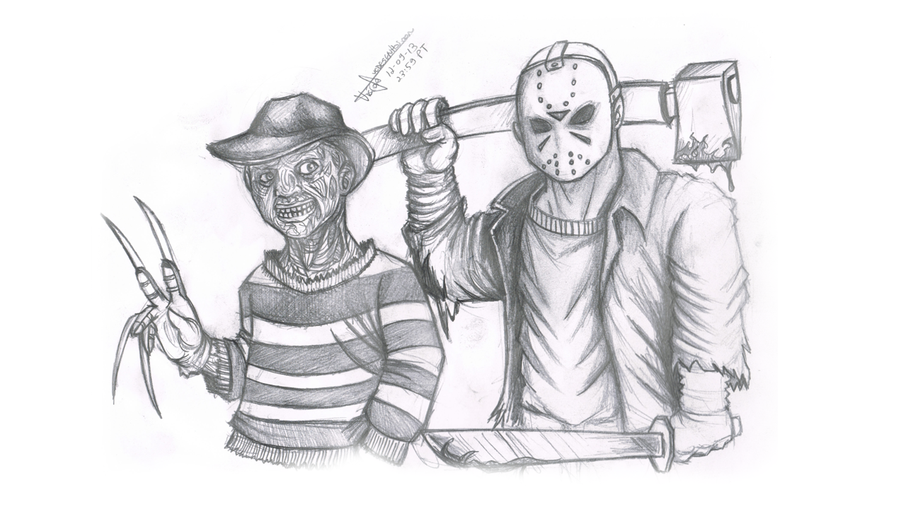 how to draw jason voorhees easy
