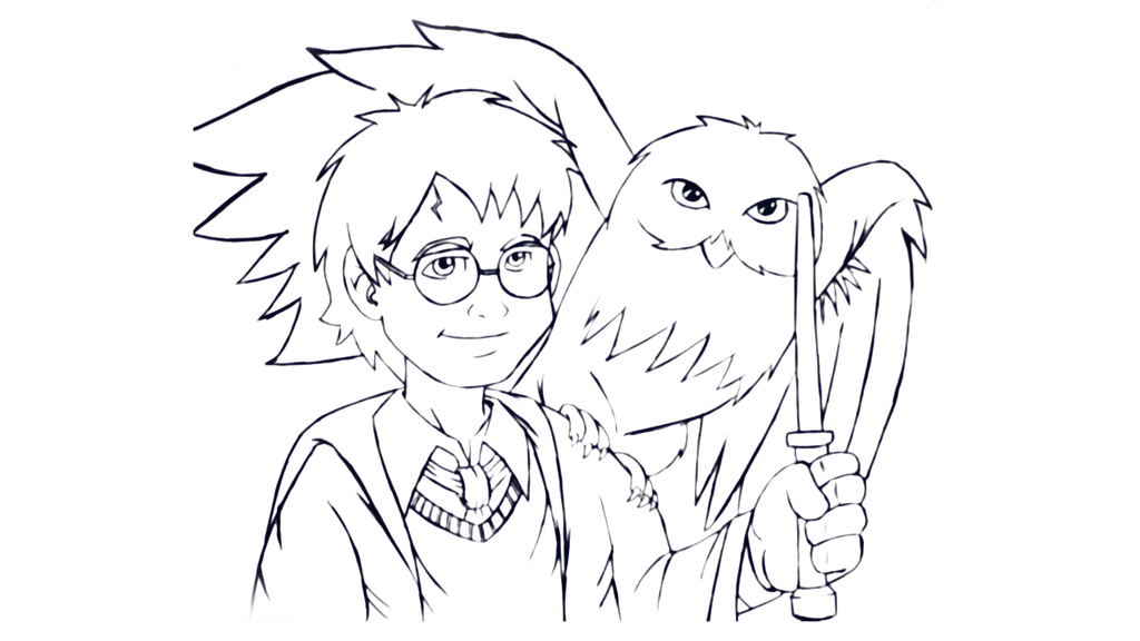 Line Drawing Harry Potter : Draw harry potter by vcdesenhos on deviantart