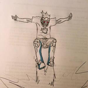 Star-lord sticking his landing