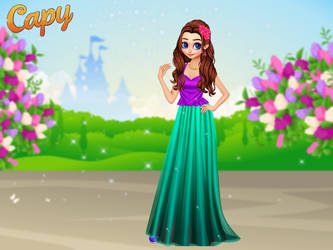Rapunzel as a princess by Nessirea