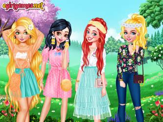 Rapunzel, Snow White, Ariel and Cinderella by Nessirea