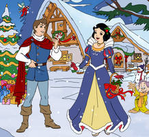 Prince Charming, Snow White and Dopey