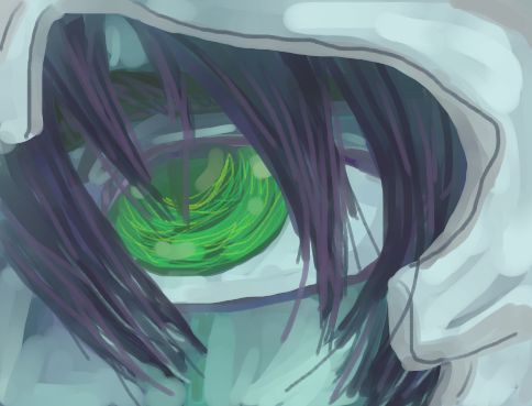 Serpentine eye: Ulquiorra by Baronly