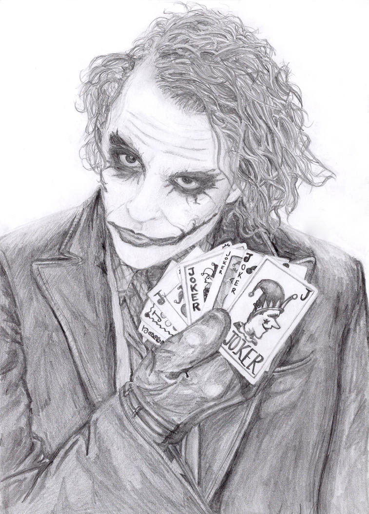 Joker Scribble Drawing : The joker man dude by lovindah on deviantart