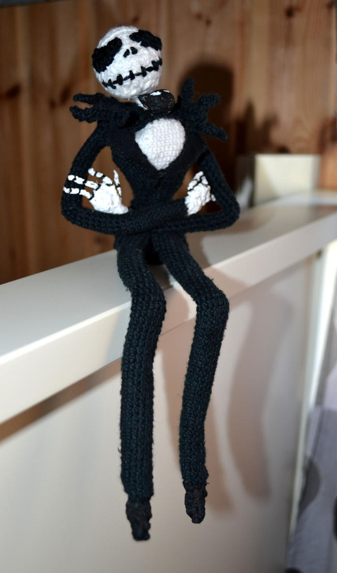 Crochet Jack Skellington : Jack Skellington Crochet by Lovindah on DeviantArt
