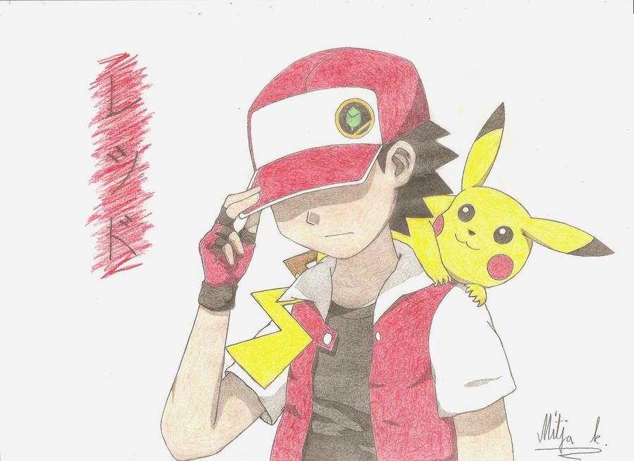 Pokemon trainer red by pokekyuubi