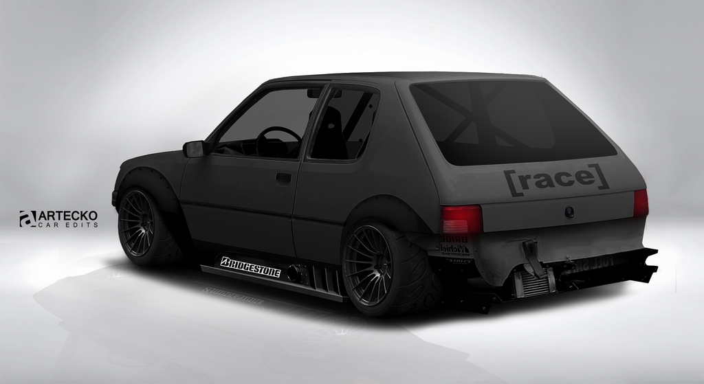 artecko virtual tuning peugeot 205 gti by theartecko on deviantart. Black Bedroom Furniture Sets. Home Design Ideas