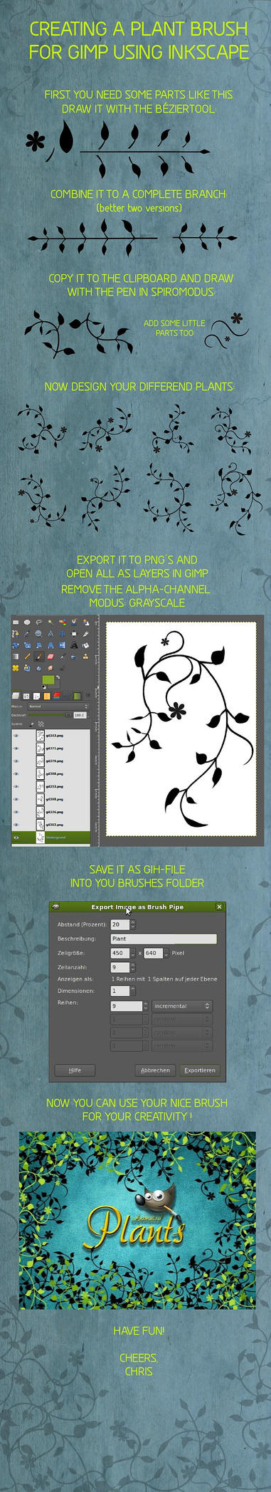 Inkscape GIMP-Brush Tutorial by Chrisdesign