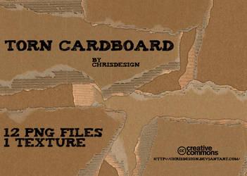 Torn Cardboard Textures by Chrisdesign