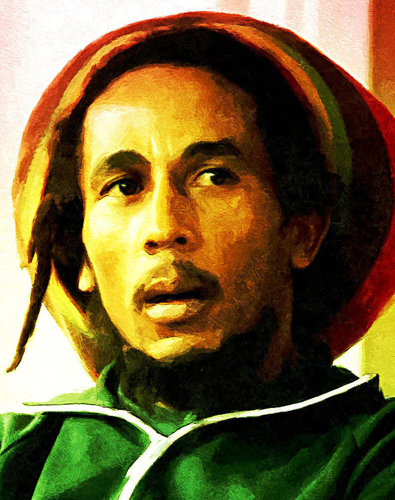 Bob Marley Paintings Black And White