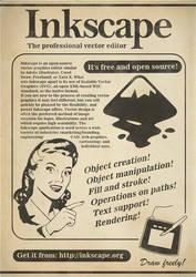 Inkscape Vintage Poster by Chrisdesign