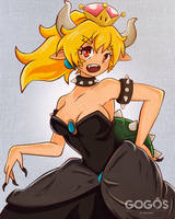 Bowsette by gogosart