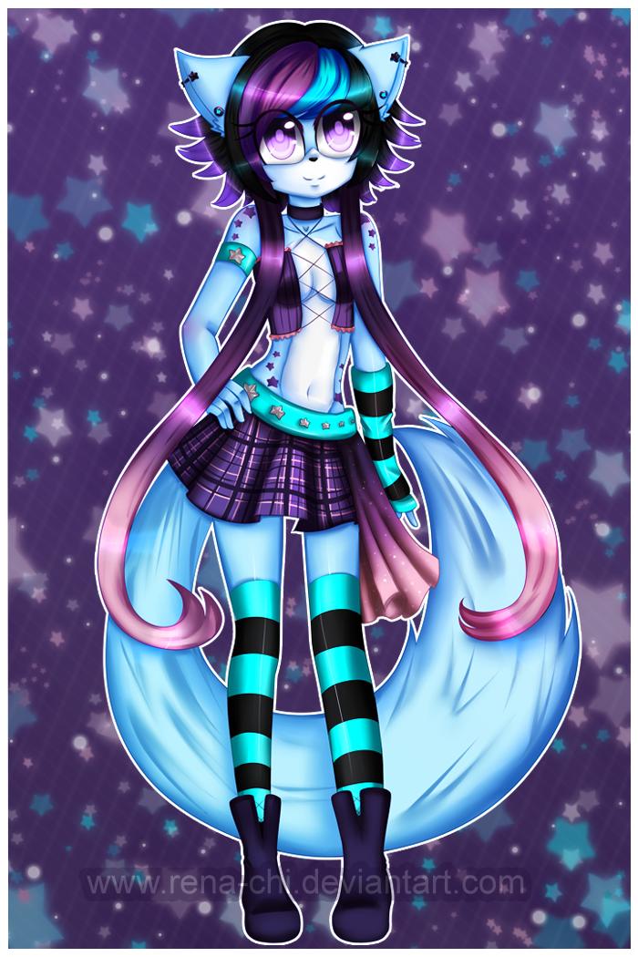 Starry Wolf by Priincessu