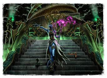Serpentfolk temple by fragworks