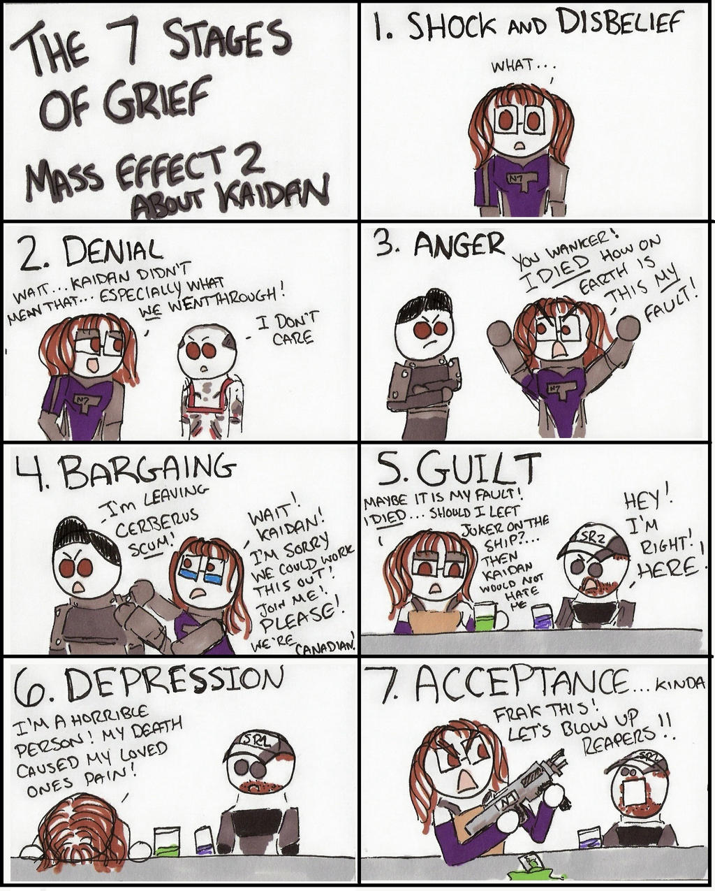 Mass Effect 2: The 7 Stages Of Grief About Kaidan By