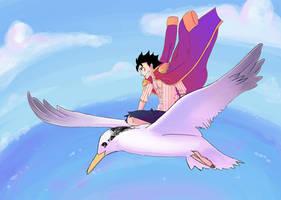 Luffy Flying by RoroZoro