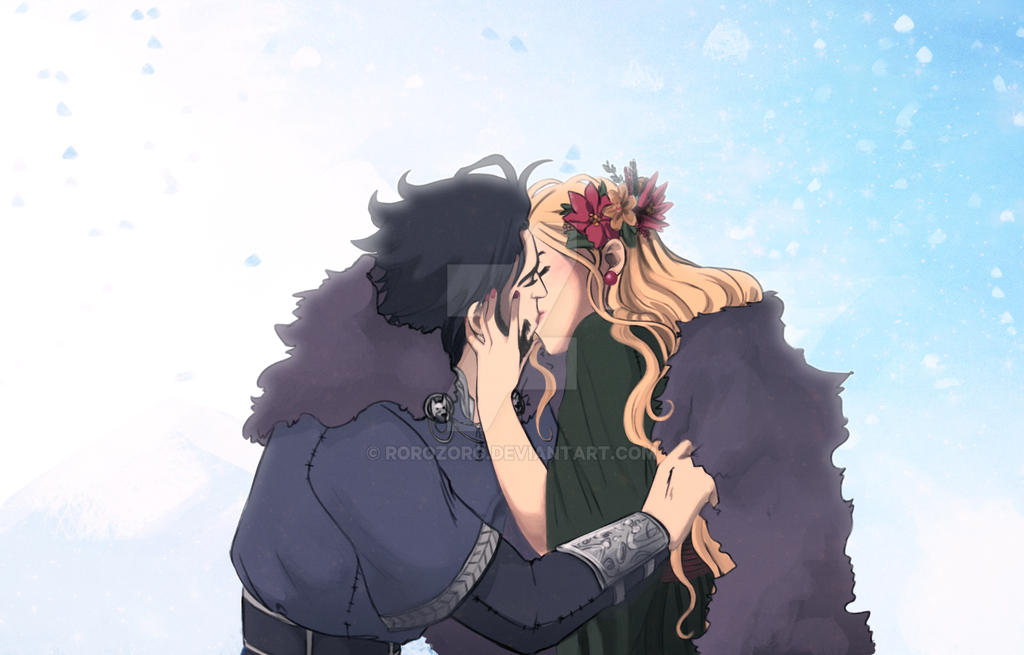 AG: Winter Kisses by RoroZoro
