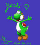 Yoshi painted from scratch on tablet
