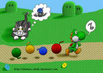 Yarn Yoshi and Kitteh