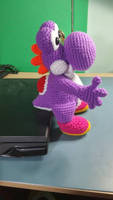 Purple Yarn Yoshi commissioned from local crafter by Ishimaru-Chiaki