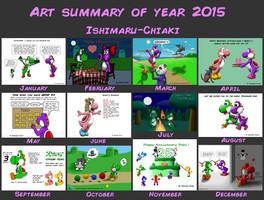 My art summary 2015 by Ishimaru-Chiaki