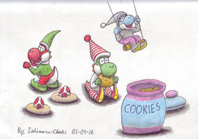 [Contest entry] Elf yoshis by Ishimaru-Chiaki