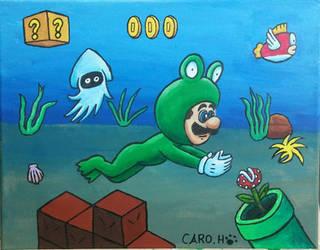 [Acrylic] Frog Luigi (xmas gift for my bro) by Ishimaru-Chiaki