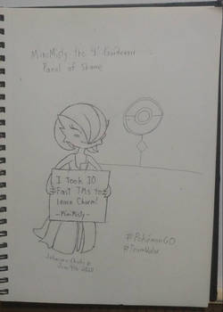 [Sketch] MiniMisty the smol Gardi's Panel of Shame