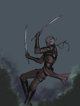 Dark Elf. Blades of darkness